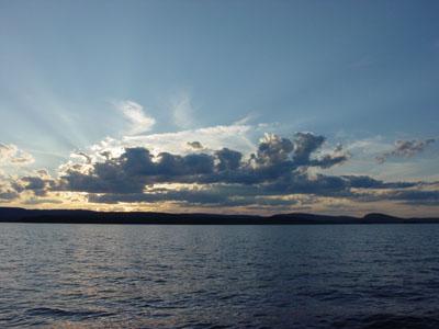 Sunset on Great Pond